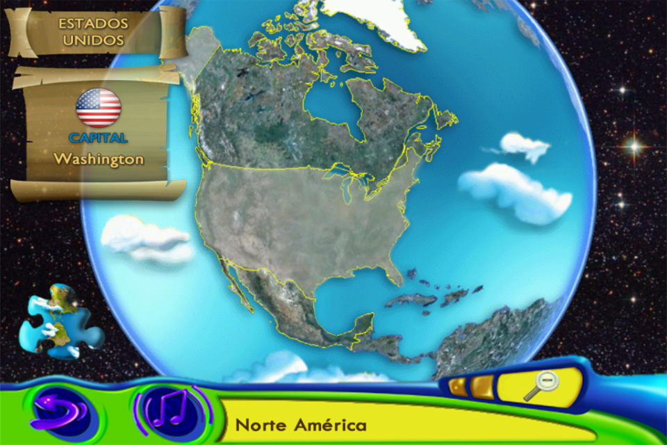 Screenshot Dikie & Dukie: Learn Geography in Spanish